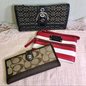 Coach & Kate Spade USED Wallets Clutch Wristlet